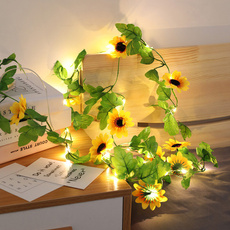 party, sunflowerlightstring, bedroomdecoration, led