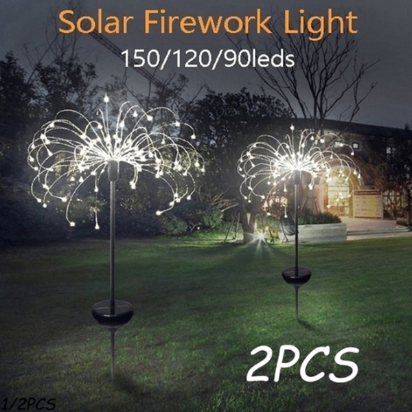 Outdoor, solarlawnfireworklight, Garden, Waterproof