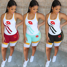 Summer, Vest, Fashion, Two Pieces