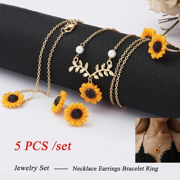 goldplated, leaf, Jewelry, sunflowerbracelet