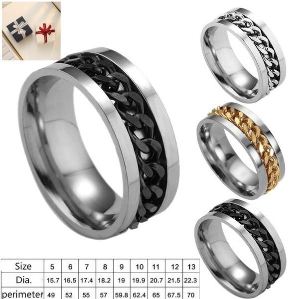 Couple Rings, men_rings, Stainless Steel, Jewelry