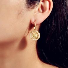 coinearringsforwomen, Cameo, circlehoopearring, Pearl Earrings