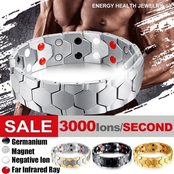magnetbracelet, Steel, weightlossbracelet, Luxury