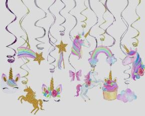 unicornparty, unicornpartysupplie, hangingunicorndecoration, unicornbirthday