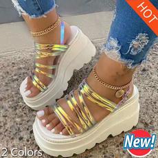 wedge, Sandals, Platform Shoes, Womens Shoes
