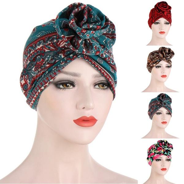 chemocap, Flowers, women hats, turbanhat