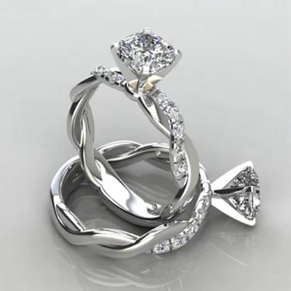 Fashion, wedding ring, gold, sterling silver