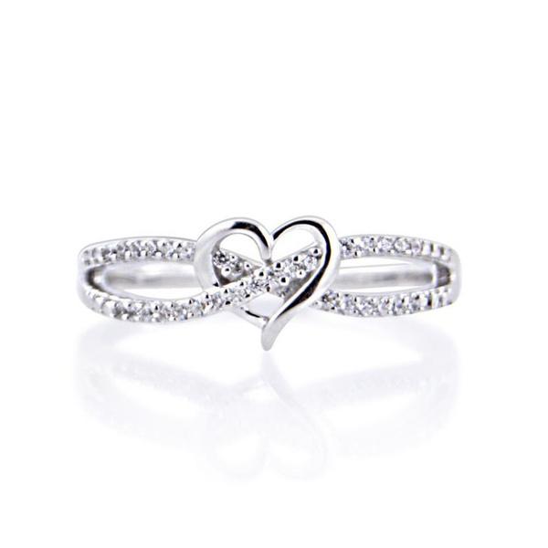 Heart, DIAMOND, 925 sterling silver, Jewelry