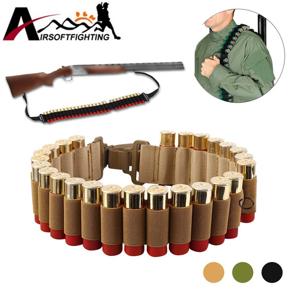25 Round 12 20GA Gauge Shotgun Shell Holder Cartridge Ammo Sling Ammunitio Belt