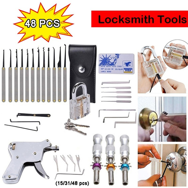 Unlocking Pick Key Extractor Padlock Lockpick Tool Kit Quick Open Lock Tools