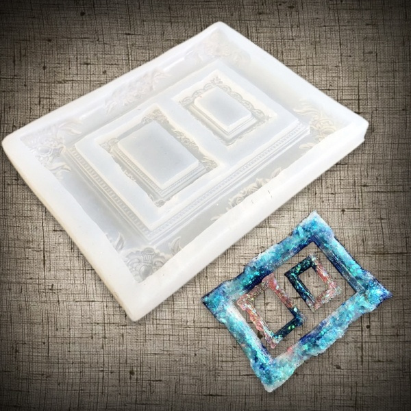Tool Hand Craft Photo Frame Resin Mold DIY Silicone Picture Frames Mould Tools