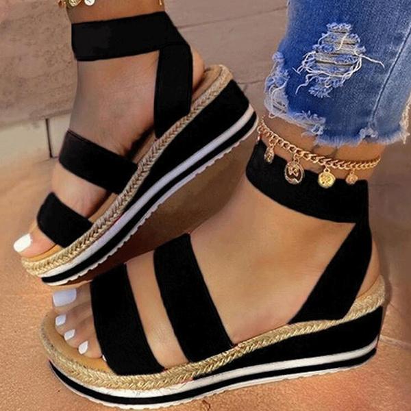 Summer, Sandals, wedge, Heels
