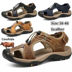 Sandals & Flip Flops, Outdoor, Breathable, Plus Size