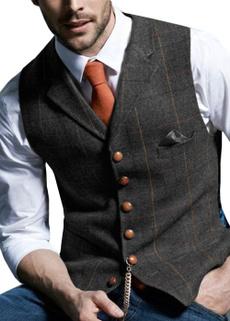 Vest, plaid, Waist Coat, Men's vest