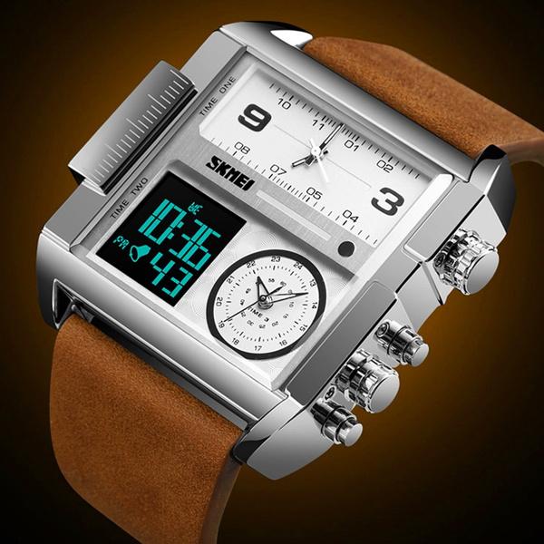 LED Watch, watchformen, quartz, led