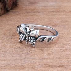 butterfly, Sterling, 925 sterling silver, Vintage