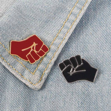 Pins, blackpower, Brooch Pin, icantbreathe