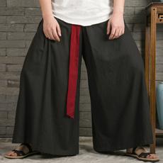joggingpant, harem, elastic waist, cottonlinen