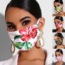 Fashion, Floral print, Print, Masks