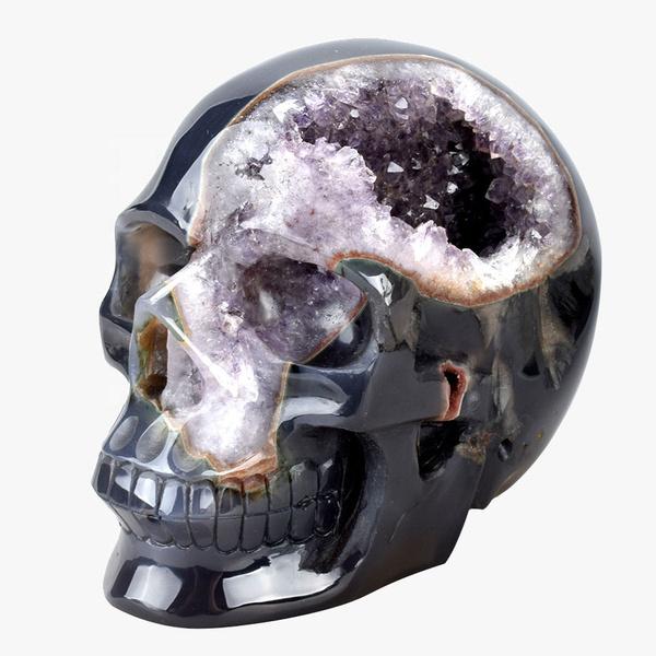 crystalcluster, clusterspecimen, skull, heartreiki