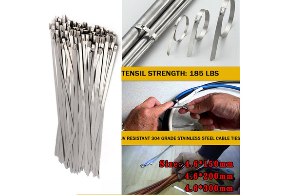 """12/"""" QTY 30 Stainless Steel Wire Zip Ties Industrial Strength Self Locking Band"""