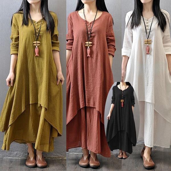 long skirt, Spring/Autumn, Sleeve, Long Sleeve