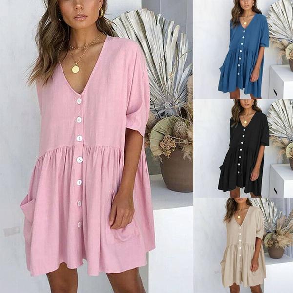 Summer, Fashion, sundress, plus size dress