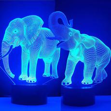 3dlamp, Interior Design, Night Light, Elephant