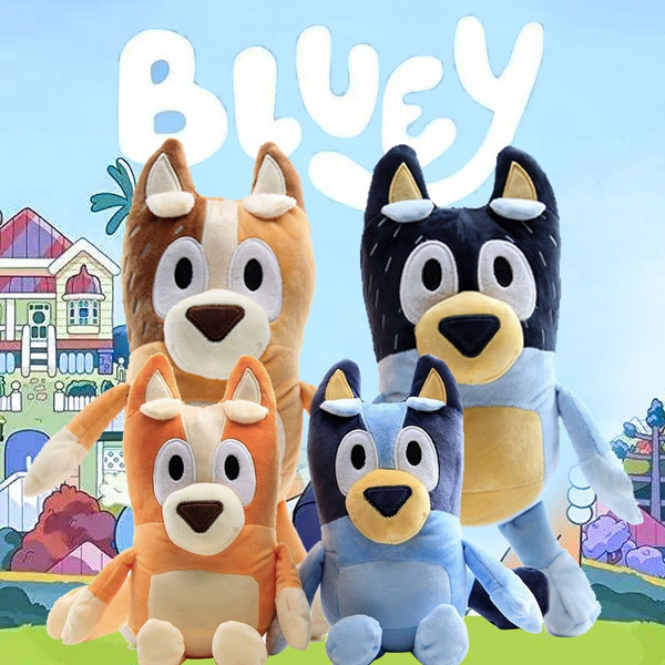 Plush, Toy, blueybingotoyfigurine, blueybingotoygift