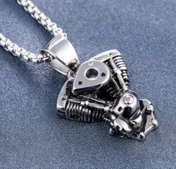 engine, Goth, Men, punk necklace