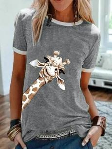 Plus Size, Shirt, animal print, Graphic Shirt