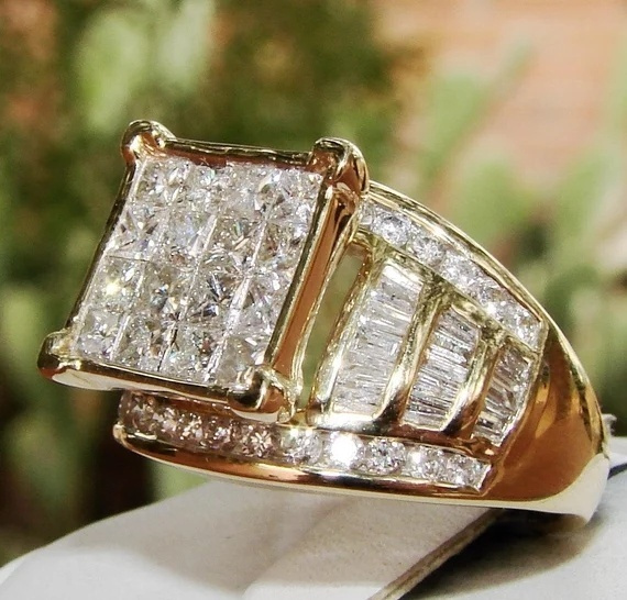 DIAMOND, wedding ring, Cocktail, baguefemme