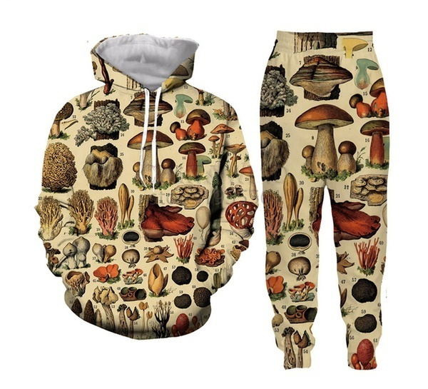 track suit, Mushroom, pants, collage