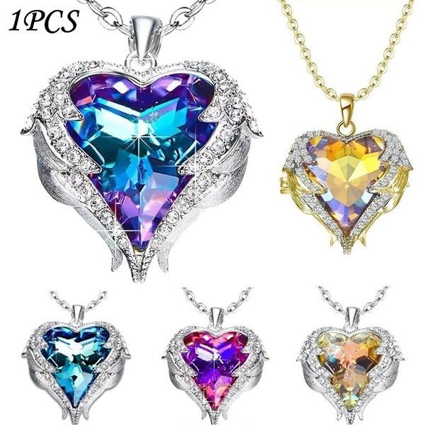 amethystnecklace, Jewelry, Angel, Heart