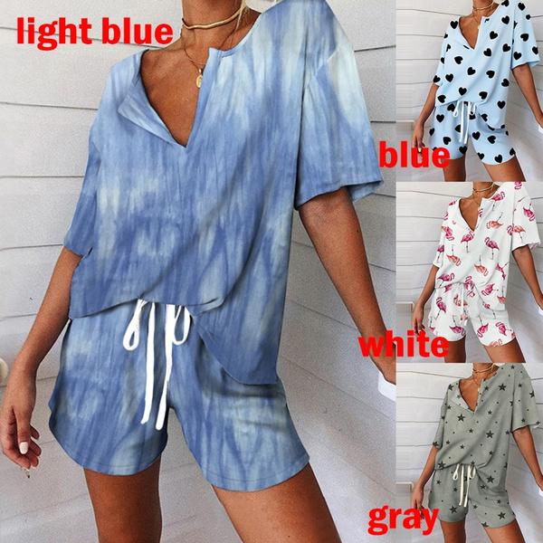 sleeve v-neck, Heart, casualsleepwear, Fashion