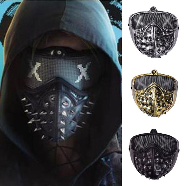 watchdogmask, Cosplay, partymask, glowmask