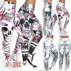 Summer, Fashion, sport pants, skull