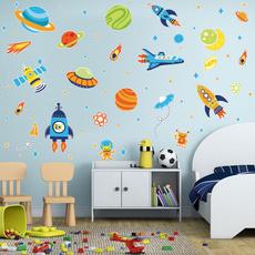 spacewallsticker, astronautwalldecal, homedecorforkidsroom, diywallsticker