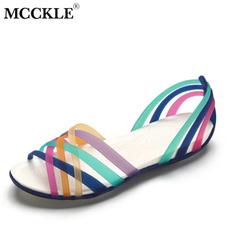 Summer, Sandals, rainbow, Food
