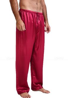 Summer, nightwear, loungepant, mensilksatinpajama