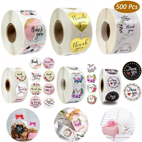 Round label Sealing Craft Self Adhesive Thank You Stickers Gift Paper Sticker