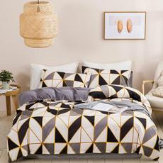 King, Triangles, Pillow Shams, Bedding