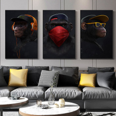 monkey, canvaspaintingidea, art, homepainting