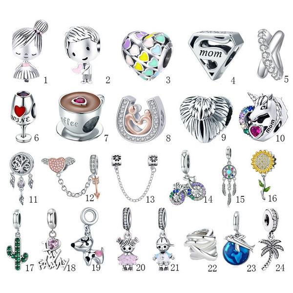 necklacebead, Charm Bracelet, charmbead, Jewelry