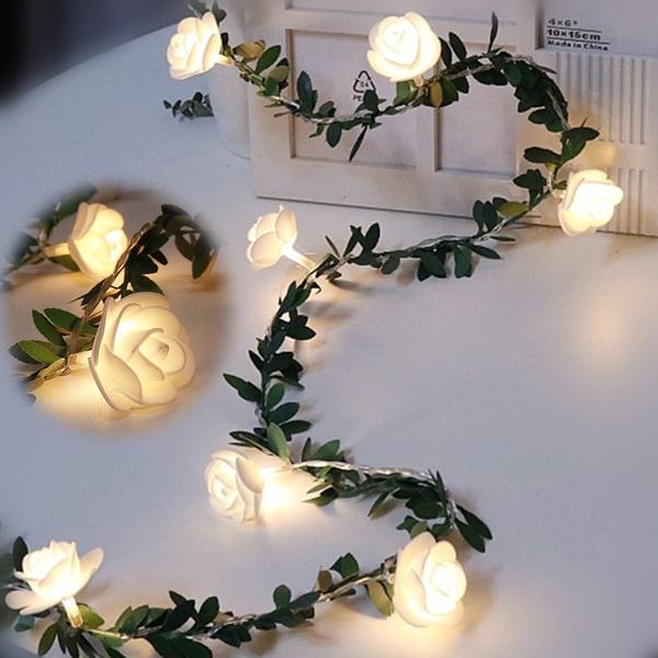 party, Decor, Flowers, Night Light