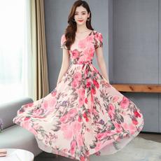 Summer, short sleeve dress, Ladies Fashion, Sleeve