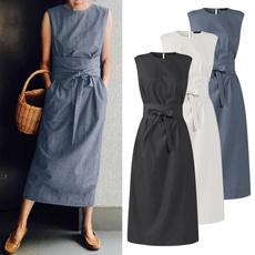 sleeveless, Plus Size, neck dress, Necks