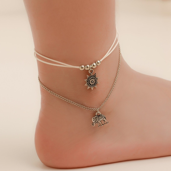 charmanklet, Jewelry, Chain, Sunflowers