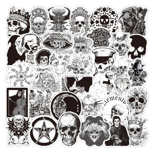 Goth, skullsticker, punk style, Sports & Outdoors
