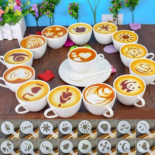 Coffee, stencil, decorationart, cappuccinocoffeestencil